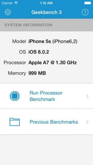 iPhone、iPadアプリ「Geekbench 3」のスクリーンショット 1枚目