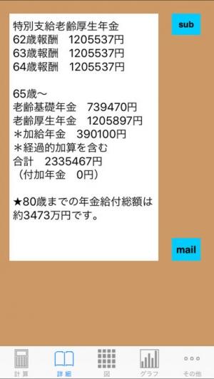 iPhone、iPadアプリ「年金グラフ」のスクリーンショット 2枚目