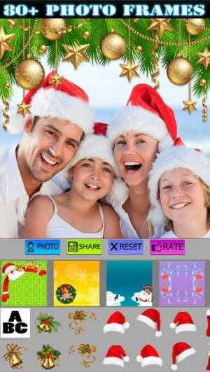 iPhone、iPadアプリ「Christmas Stickers and Photo Frames」のスクリーンショット 1枚目