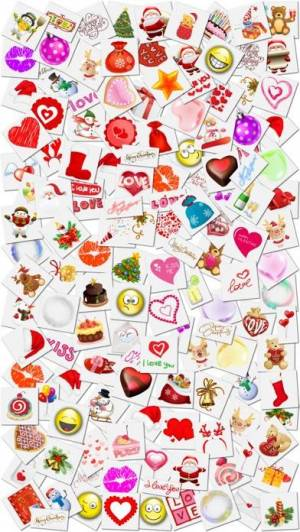 iPhone、iPadアプリ「Christmas Stickers and Photo Frames」のスクリーンショット 4枚目