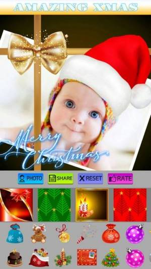 iPhone、iPadアプリ「Christmas Stickers and Photo Frames」のスクリーンショット 5枚目