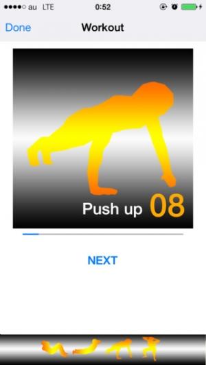 iPhone、iPadアプリ「筋トレ・シャッフル -Muscle training shuffle-」のスクリーンショット 2枚目