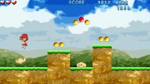 iPhone、iPadアプリ「リンゴさんのジャンプアクション」のスクリーンショット 2枚目