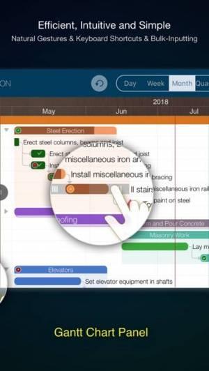 iPhone、iPadアプリ「QuickPlan - Project Gantt Plan」のスクリーンショット 4枚目