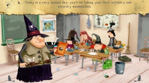iPhone、iPadアプリ「The Little Witch at School」のスクリーンショット 2枚目