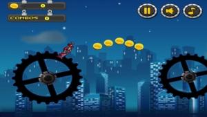 iPhone、iPadアプリ「ロボットスカイサーファーズ楽しい無料ゲームの攻撃」のスクリーンショット 1枚目