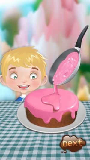 iPhone、iPadアプリ「バースデーケーキメーカー - 料理ゲーム」のスクリーンショット 1枚目