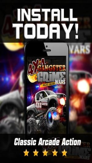 iPhone、iPadアプリ「4x4 マフィアレーサーカーレース - モンスタートラックゲーム - 無料 ゲーム」のスクリーンショット 3枚目