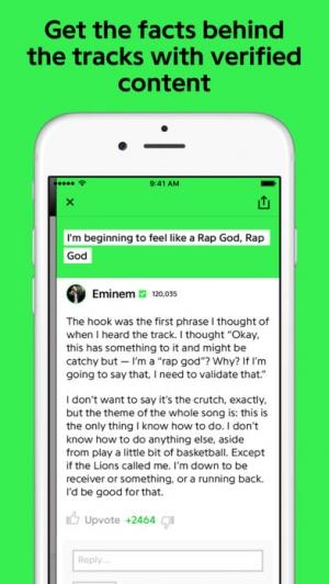 iPhone、iPadアプリ「Genius: Song Lyrics & More」のスクリーンショット 4枚目