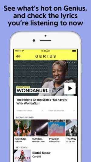 iPhone、iPadアプリ「Genius: Song Lyrics & More」のスクリーンショット 3枚目