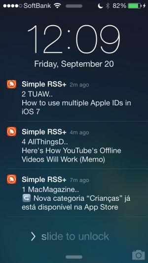 iPhone、iPadアプリ「Simple RSS Push+」のスクリーンショット 5枚目