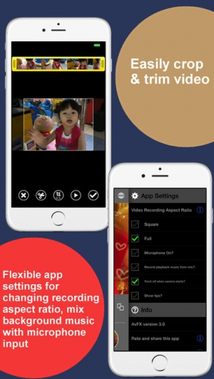 iPhone、iPadアプリ「AvFX - awesome video effect, editor & background music edit for Instagram, Facebook, Youtube, Vine」のスクリーンショット 3枚目