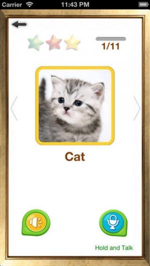 iPhone、iPadアプリ「英単語カード – 楽しく初めての英語発音」のスクリーンショット 4枚目
