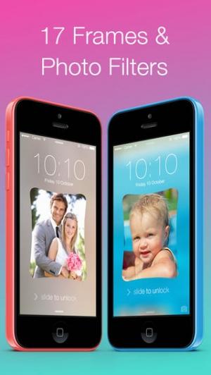iPhone、iPadアプリ「WallPic: ロック画面に、壁紙に、背景のぼかし効果つきフォトフレーム」のスクリーンショット 5枚目