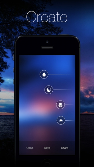 iPhone、iPadアプリ「Blurify - Create custom blurred iOS 7 style background wallpapers」のスクリーンショット 1枚目