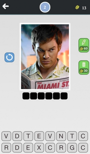 iPhone、iPadアプリ「セリエクイズ - 恐ろしいそして楽しいトリビアゲーム - この単語のパズル内のイメージと最も人気があり、有名なショーのテレビゲス!」のスクリーンショット 2枚目