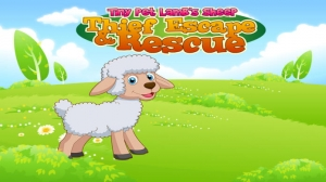 iPhone、iPadアプリ「小さなペット子羊の羊泥棒のエスケープおよび救助 : Tiny Pet Lamb's Sheep Thief Escape and Rescue」のスクリーンショット 1枚目