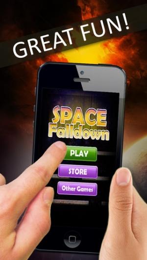 iPhone、iPadアプリ「Space Falldown ! :重力加速度エスケープLiteのアーケードゲーム - 落下ベスト楽しみの一つ 子供のためのボールゲーム - 無料アプリを転がすクールファニー3D病みつき - 加速物理学と嗜癖アプリ」のスクリーンショット 3枚目