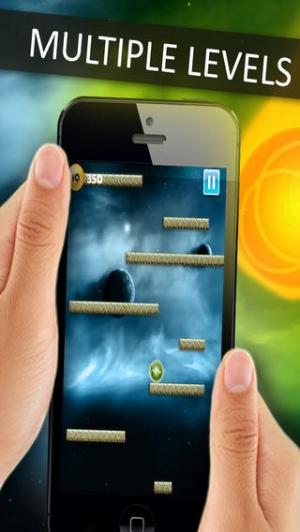 iPhone、iPadアプリ「Space Falldown ! :重力加速度エスケープLiteのアーケードゲーム - 落下ベスト楽しみの一つ 子供のためのボールゲーム - 無料アプリを転がすクールファニー3D病みつき - 加速物理学と嗜癖アプリ」のスクリーンショット 4枚目