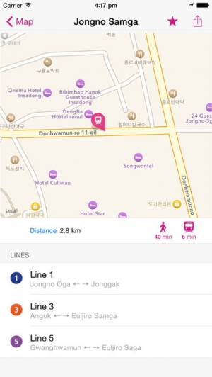 iPhone、iPadアプリ「ソウル線路図 Lite」のスクリーンショット 2枚目