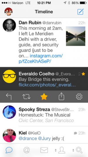 iPhone、iPadアプリ「Tweetbot 3 for Twitter. An elegant client for iPhone and iPod touch」のスクリーンショット 1枚目
