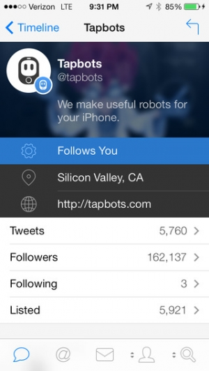 iPhone、iPadアプリ「Tweetbot 3 for Twitter. An elegant client for iPhone and iPod touch」のスクリーンショット 4枚目