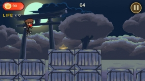 iPhone、iPadアプリ「Action Ninja Dash」のスクリーンショット 1枚目