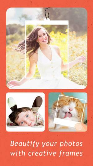 iPhone、iPadアプリ「Creative Frames - InstaFrame Photo Editor for Ins」のスクリーンショット 1枚目