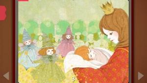 iPhone、iPadアプリ「眠れる森の美女  - Pink Paw Books インタラクティブ名作童話シリーズ」のスクリーンショット 3枚目