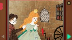 iPhone、iPadアプリ「眠れる森の美女  - Pink Paw Books インタラクティブ名作童話シリーズ」のスクリーンショット 4枚目
