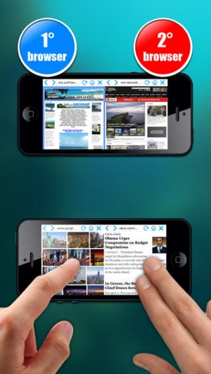 iPhone、iPadアプリ「Double Browser Pro for iOS 8」のスクリーンショット 2枚目