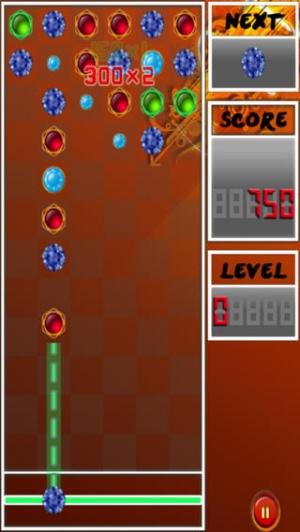 iPhone、iPadアプリ「マッチ 3 宝石とダイヤモンドのプロ ゲーム - A Match 3 Jewels And Diamonds Pro Game」のスクリーンショット 2枚目