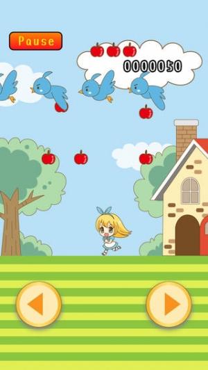 iPhone、iPadアプリ「不思議の国のリンゴ注意報」のスクリーンショット 1枚目