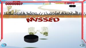 iPhone、iPadアプリ「アイス ホッケーのゴールキーパーの無料ゲーム - Ice Hockey Goalie Free Game」のスクリーンショット 3枚目