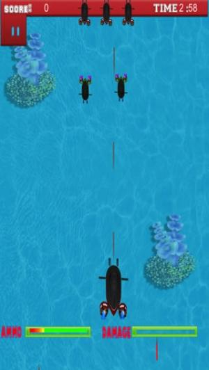 iPhone、iPadアプリ「プロの海底のシューティング ゲーム - A Submarine Shooter Pro Game」のスクリーンショット 3枚目