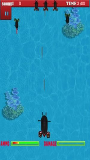 iPhone、iPadアプリ「プロの海底のシューティング ゲーム - A Submarine Shooter Pro Game」のスクリーンショット 1枚目