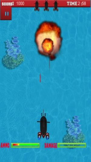 iPhone、iPadアプリ「プロの海底のシューティング ゲーム - A Submarine Shooter Pro Game」のスクリーンショット 4枚目