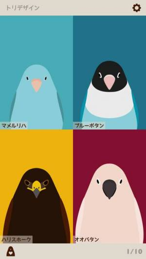 iPhone、iPadアプリ「トリノイロ - 鳥壁紙メーカー」のスクリーンショット 1枚目