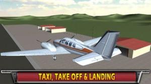 iPhone、iPadアプリ「空港離陸フライトシミュレータ無料」のスクリーンショット 1枚目
