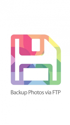 iPhone、iPadアプリ「Backup Photos via FTP - Send To Your Own Server」のスクリーンショット 1枚目