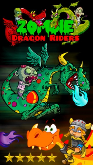 iPhone、iPadアプリ「A Zombie Dragon Rider in The City : FREE Flying & Shooting Multiplayer Games - By Dead Cool Apps」のスクリーンショット 1枚目