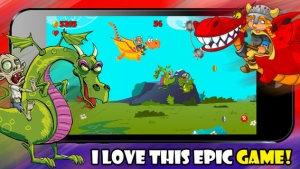 iPhone、iPadアプリ「A Zombie Dragon Rider in The City : FREE Flying & Shooting Multiplayer Games - By Dead Cool Apps」のスクリーンショット 3枚目
