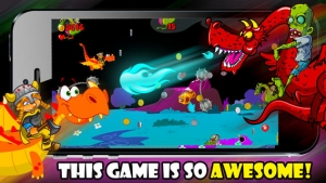 iPhone、iPadアプリ「A Zombie Dragon Rider in The City : FREE Flying & Shooting Multiplayer Games - By Dead Cool Apps」のスクリーンショット 2枚目