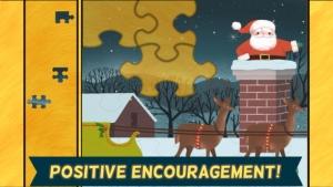 iPhone、iPadアプリ「子どものためのクリスマスゲーム:小さい子ども、男の子、女の子のための、かっこいいサンタクロース、雪だるま、トナカイジグソーパズルHD」のスクリーンショット 3枚目
