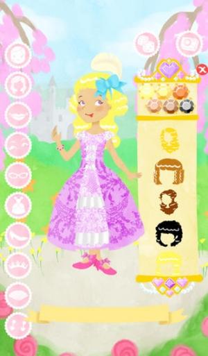 iPhone、iPadアプリ「プリンセス ファッション ショー 無料 ゲームをドレスアップ」のスクリーンショット 2枚目