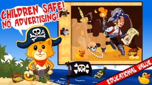 iPhone、iPadアプリ「My Pirates Puzzles - Mr. Pepper's Pirate Puzzle For Preschool Kids and Toddlers」のスクリーンショット 1枚目