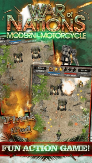 iPhone、iPadアプリ「A Modern Motorcycle War of States - Real Offroad Dirt Bike Racing Shooter Game HD FREE」のスクリーンショット 2枚目