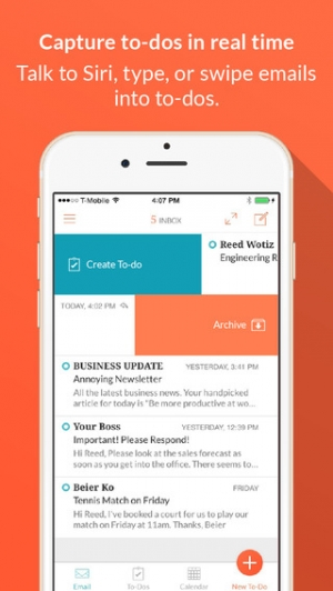 iPhone、iPadアプリ「Handle: To-do List, Inbox, and Calendar Management」のスクリーンショット 1枚目