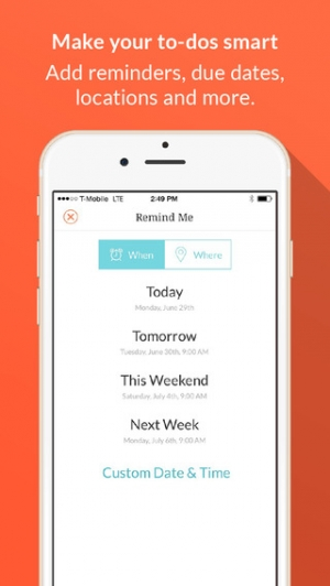 iPhone、iPadアプリ「Handle: To-do List, Inbox, and Calendar Management」のスクリーンショット 2枚目