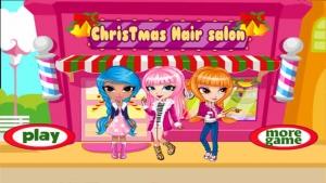 iPhone、iPadアプリ「Xmas Hair Salon」のスクリーンショット 1枚目